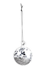 Lot de 2 boules de Noël - Argenté - Home All | H&M CA 2