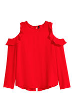 Cold shoulder crêpe blouse - Red - Ladies | H&M CN 2