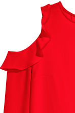 Cold shoulder crêpe blouse - Red - Ladies | H&M CN 4