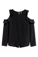Cold shoulder crêpe blouse - Black - Ladies | H&M CN 2
