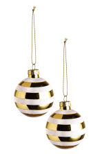 2-pack Christmas decorations - White/Gold - Home All | H&M CN 1