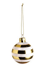 2-pack Christmas decorations - White/Gold - Home All | H&M CN 2