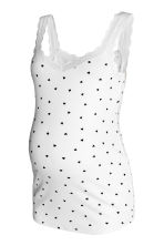 MAMA Vest top with lace - White/Heart - Ladies | H&M CN 2