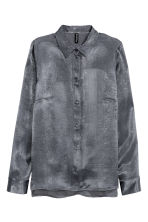 Long-sleeved blouse - Dark grey - Ladies | H&M CN 2