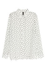 Long-sleeved blouse - White/Heart - Ladies | H&M CN 2