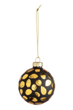 2-pack Christmas decorations - Black/Gold - Home All | H&M CN 2