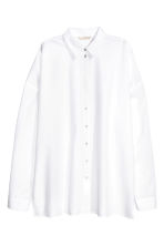 Oversized cotton shirt - White - Ladies | H&M CN 2