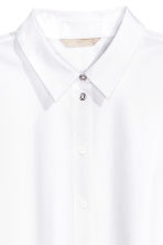 Oversized cotton shirt - White - Ladies | H&M CN 3