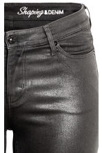 H&M+ Shaping Skinny Jeans - Black/Coated - Ladies | H&M CN 4