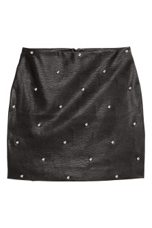 Imitation leather skirt