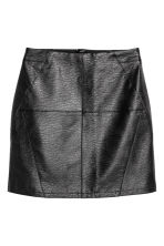 Short skirt - Black/Imitation leather -  | H&M CN 2