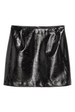 Short skirt - Black/Patent -  | H&M CN 2