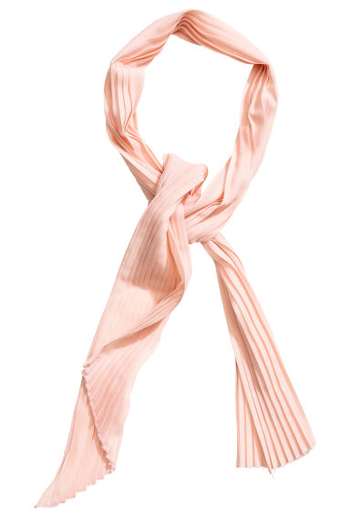 Pleated hair scarf - Powder pink - Ladies | H&M CN 1