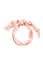 Pleated hair scarf - Powder pink - Ladies | H&M CN 2