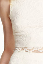 Lace top - Natural white - Ladies | H&M CN 3