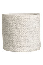 Glittery storage basket - White/Silver - Home All | H&M CN 1