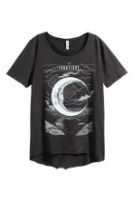 Printed T-shirt - Black - Ladies | H&M CN 2