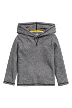 Long-sleeved hooded top - Dark grey marl - Kids | H&M CN 2