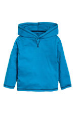 Long-sleeved hooded top - Dark turquoise - Kids | H&M CN 2