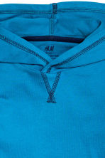 Long-sleeved hooded top - Dark turquoise - Kids | H&M CN 3