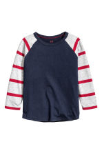 Long-sleeved T-shirt - Dark blue - Kids | H&M CN 2