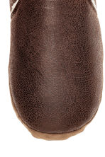 Pile-lined slippers - Dark brown - Men | H&M CN 3