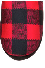 Pile-lined slippers - Red/Checked - Men | H&M CN 3