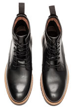 Leather boots - Black -  | H&M CN 2