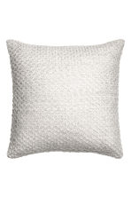 Textured-knit cushion cover - White/Silver - Home All | H&M CN 1