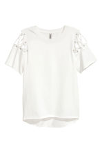 Top with lacing - White - Ladies | H&M CN 1