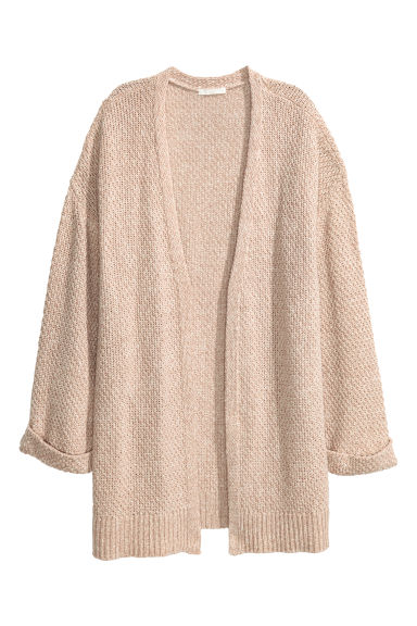 Knitted cardigan - Beige marl -  | H&M CN 1