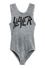 Sleeveless body - Grey/Slayer - Ladies | H&M CN 2