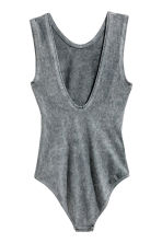 Sleeveless body - Grey/Slayer - Ladies | H&M CN 3