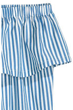 Strapless flounced top - Blue/Striped - Ladies | H&M CN 3
