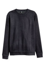 Wool-blend sweatshirt - Dark blue/Striped - Men | H&M GB 2