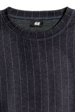 Wool-blend sweatshirt - Dark blue/Striped - Men | H&M GB 3