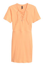 Dress with lacing - Apricot - Ladies | H&M CN 2