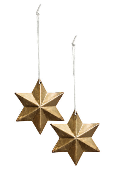 Lot de 2 décorations de Noël - Doré - Home All | H&M FR