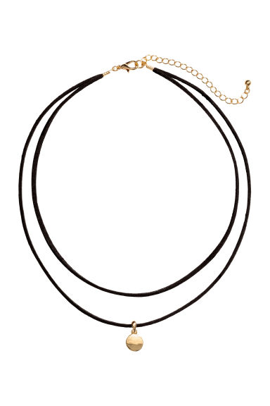 Two-strand necklace - Black/Gold - Ladies | H&M 1