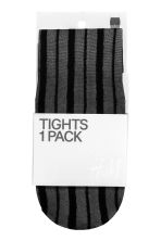 Striped tights - Black - Ladies | H&M CN 2