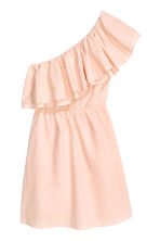 One-shoulder dress - Powder pink - Ladies | H&M CN 2