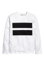 Long-sleeved T-shirt - White - Men | H&M CN 2
