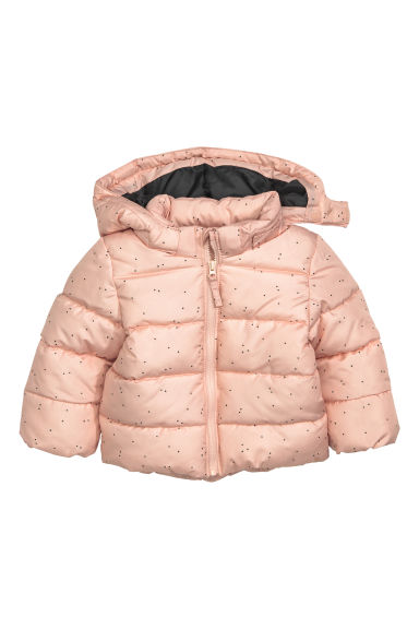Padded jacket with a hood - Powder pink - Kids | H&M CN 1