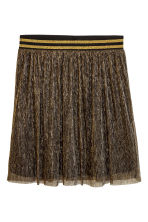 Pleated skirt - Gold - Ladies | H&M CN 2