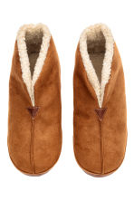 Pile-lined slippers - Camel - Men | H&M CN 2