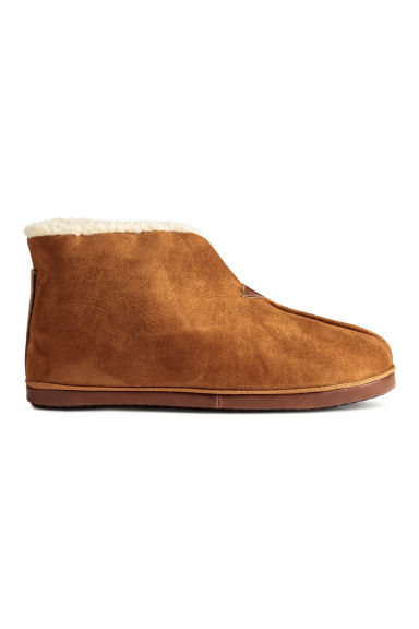 Pile-lined slippers - Camel - Men | H&M CN 1