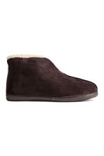 Pantofole foderate - Marrone scuro - UOMO | H&M IT 1