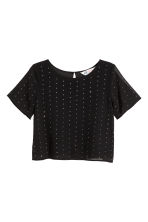 Studded chiffon top - Black - Kids | H&M CN 2