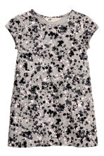 Patterned dress - Grey/Black -  | H&M CN 2
