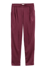 Wide trousers - Plum - Ladies | H&M CN 2